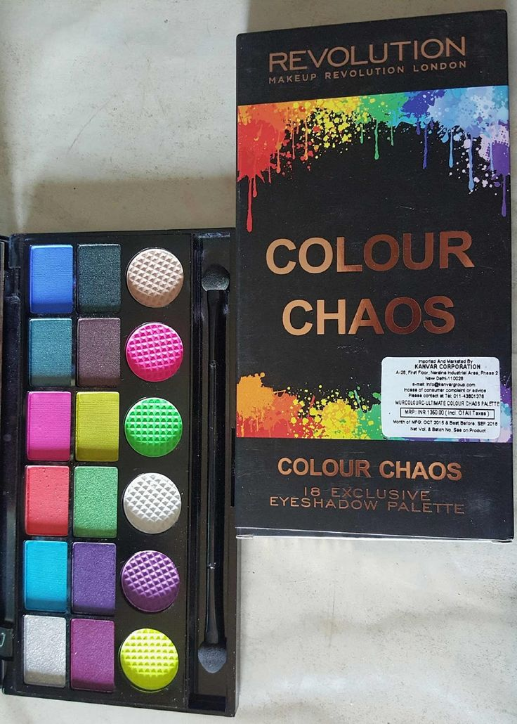 Its Silky: MAKEUP REVOLUTION LONDON COLOUR CHAOS EYESHADOW PALETTE: REVIEW