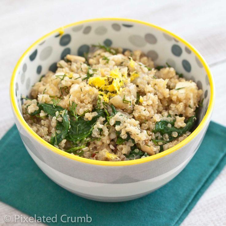 spinach, feta and dill salad: Food Recipes, Recipes Ideas, Dill Salad, Food And Drinks, Tasti Recipes, Savory Recipes, Eating, Quinoa Salad, Paleo Recipes