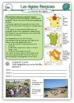 Géographie CE2 : les régions françaises