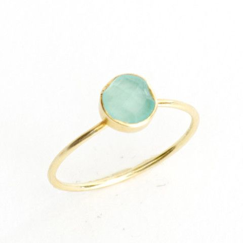 Chalcedony Circle Stacking Ring – Waffles & Honey Jewelry