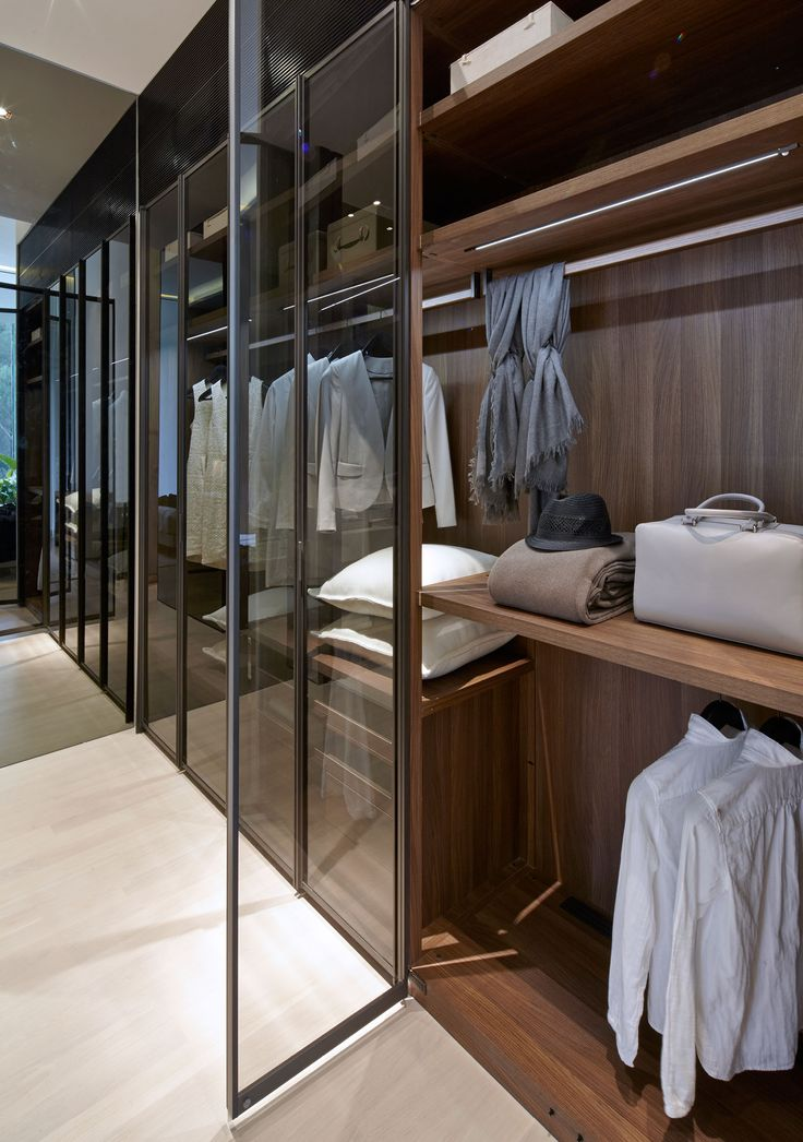 SCDA Cluny Park Residence, Singapore - beautiful timber wardrobe with glass doors