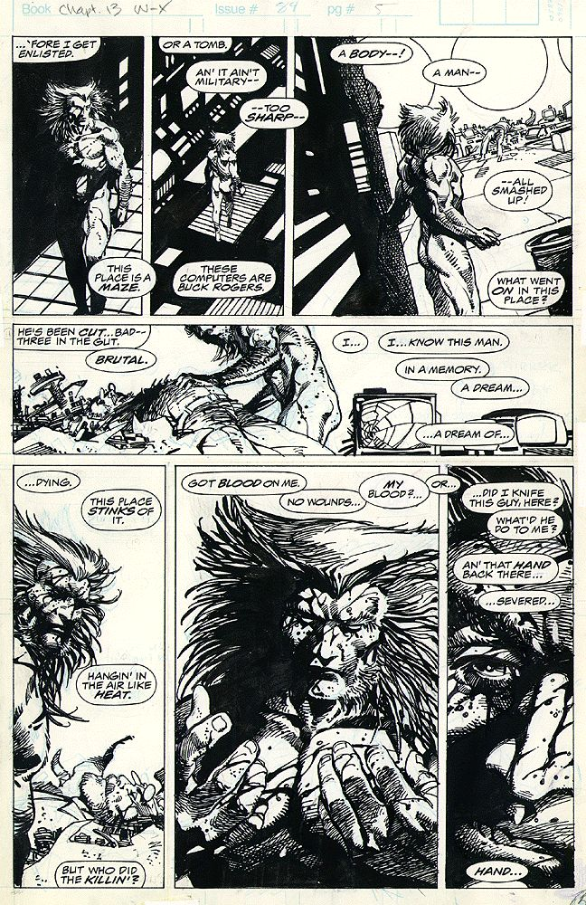 Barry Windsor-Smith: Weapon X - Chapter 13 (Marvel Comics Presents #84) Page 5 Original Art