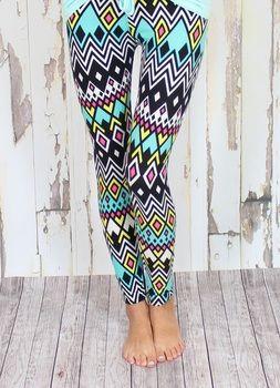 tribal leggings Modern Vintage Boutique