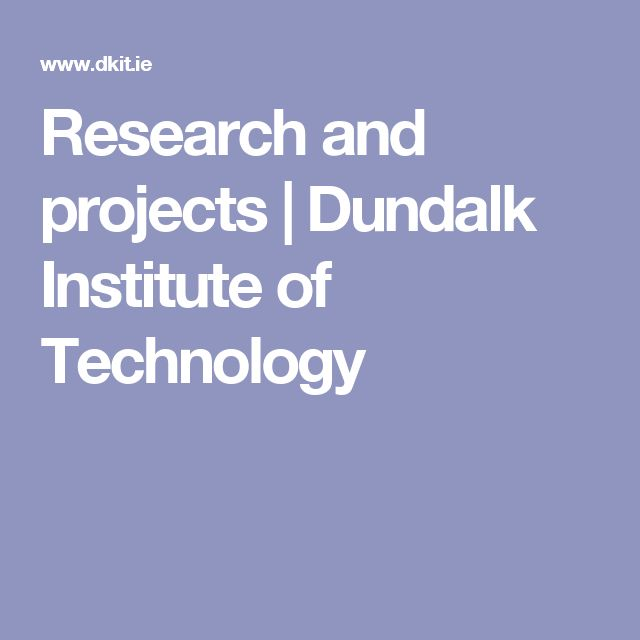 Research and projects | Dundalk Institute of Technology