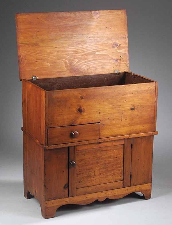 Antique American Pine Dough Box, Pennsylvania    This is a beauty. Love the little door and drawer.