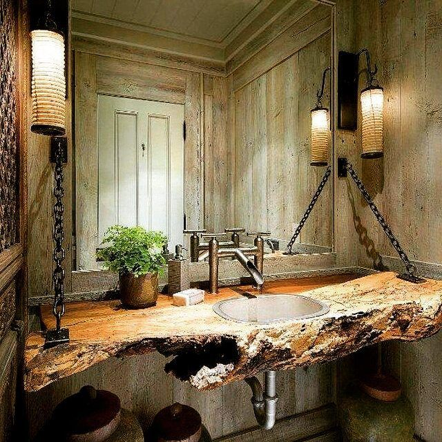 #wood #log as #bathroom #sink #rustic #cottage added in my ideas-for-a-house list :)