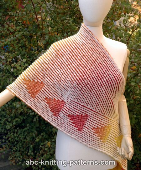 ABC Knitting Patterns - Follow the Signs Brioche Shawl