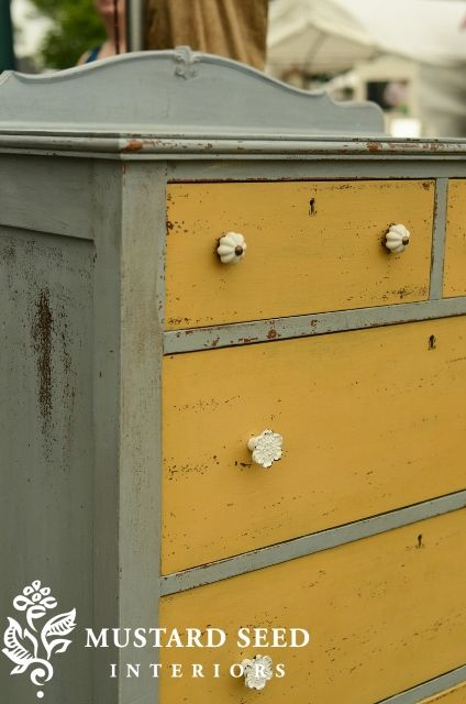 typewriter miss mustard seed | Doesn't the dresser above look like Shutter Gray and Mustard Seed ...
