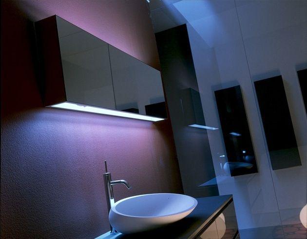 Un bagno raffinato dalle atmosfere soffuse #bagno #arredobagno #design