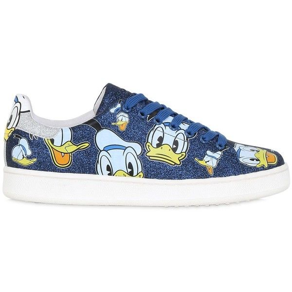 Moa Master Of Arts Women 10mm Donald Duck Glittered Sneakers (315 CAD) ❤  liked · Blue ...