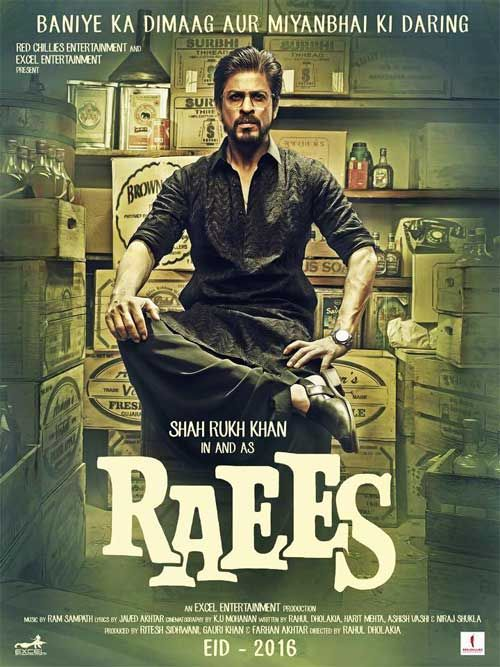 Raees Movie Shah Rukh Khan First Look Poster
