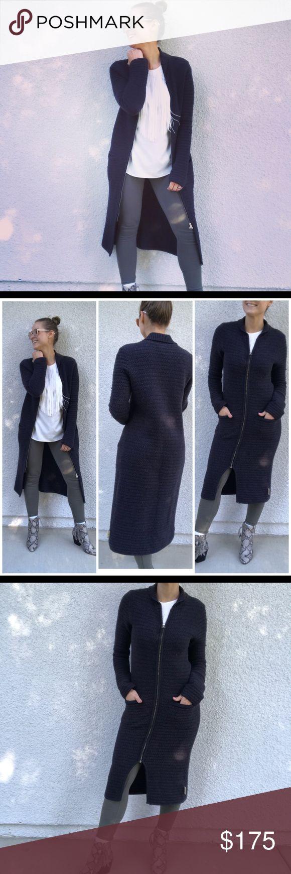 Coogi Australia long cardigan sweater jacket Long