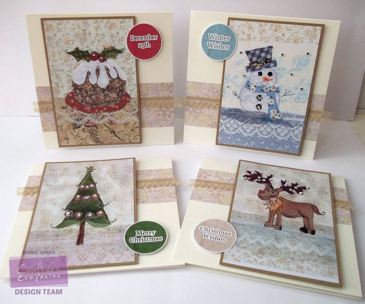 Marie Jones – Crafter's Companion - Romany Christmas CD - Toppers 1, Co-ordinating Paper 8 col 2, Sentiments 1 - Printable Light Card - Kraft Card - Easy Crystal, Crystal - Collall All Purpose & 3D glue -Lace - #crafterscompanion #Christmas