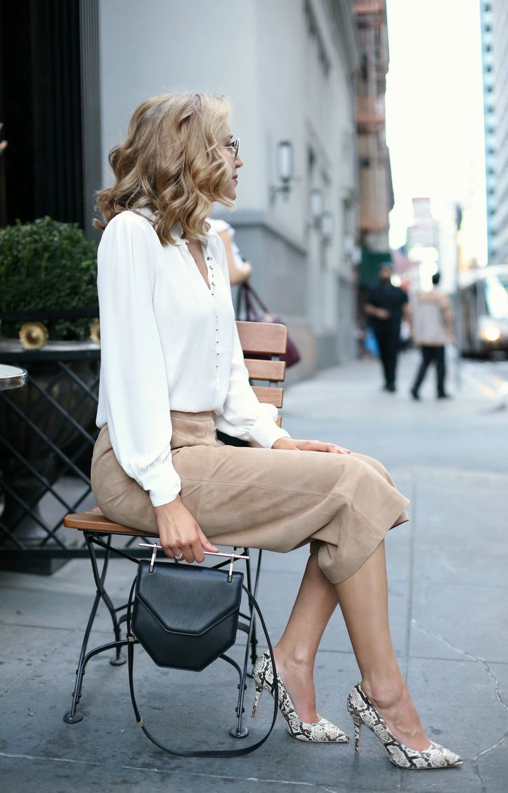 Suede Culottes and Victorian Blouse - MEMORANDUM, formerly The Classy CubicleMEMORANDUM, formerly The Classy Cubicle