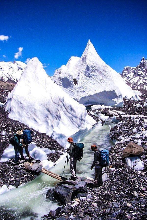 Hiking at Hamaliyan Glaciers in Pakistan