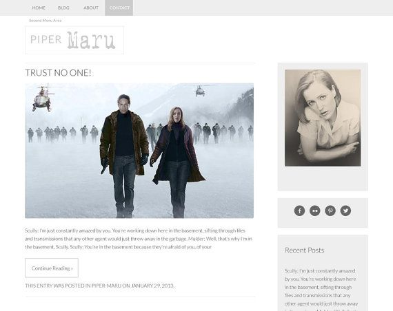 Buy Piper Maru - Premade Responsive Wordpress Theme - Instant Download - Website and Blog Template by brightmistdesigns. Explore more products on http://brightmistdesigns.etsy.com