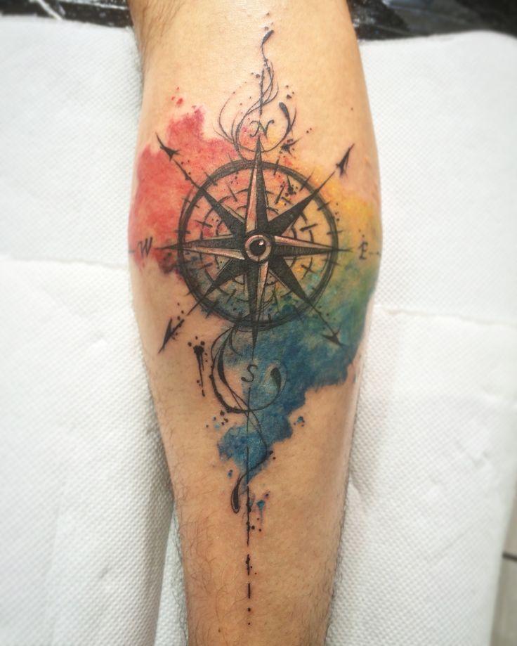Rosas dos Ventos / Bussola watercolor tattoo art By @dn_alves    Daniel R Alves São Paulo/BR