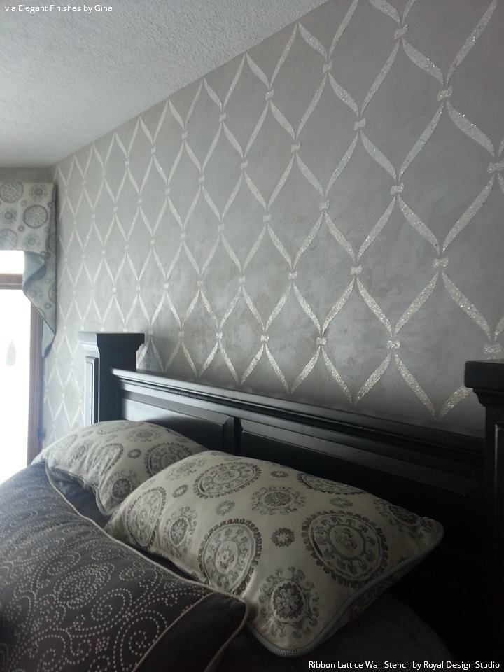 25 best ideas about high gloss paint on pinterest for Bedroom stencils designs
