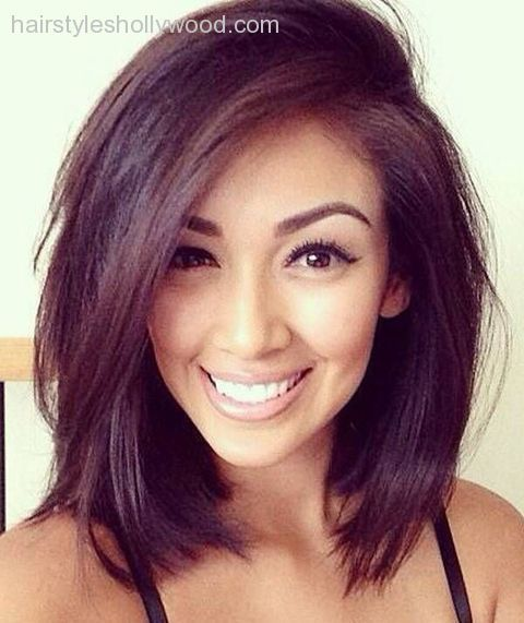 awesome mid length hairstyles for round faces 2016 – Google Search......