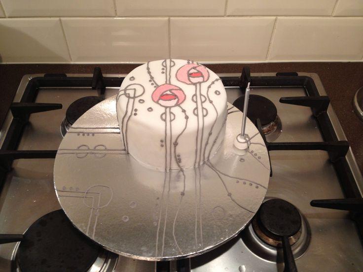Rennie Mackintosh cake
