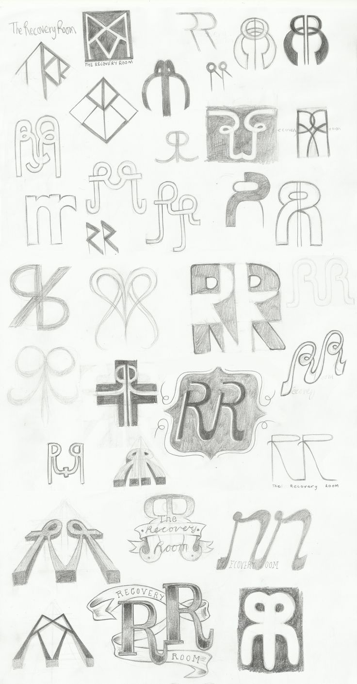 Recovery Room Design: The Recovery Room Logo Sketches