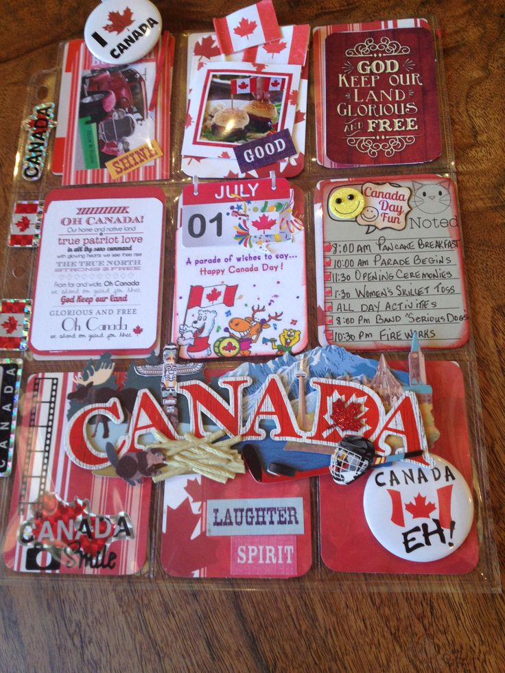 Pocket Letter created for Canada Day. July 1st 2015. Happy Canada Day! Happy Birthday Canada by Christina Betts