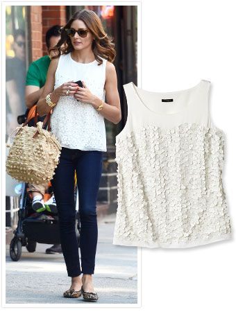 Trust #OliviaPalermo to look flawless on a hot day! The style star added a hand-appliquéd #AnnTaylor blouse to dark-wash skinnies and eye-catching accessories. http://news.instyle.com/2012/05/30/olivia-palermo-great-white-top/#