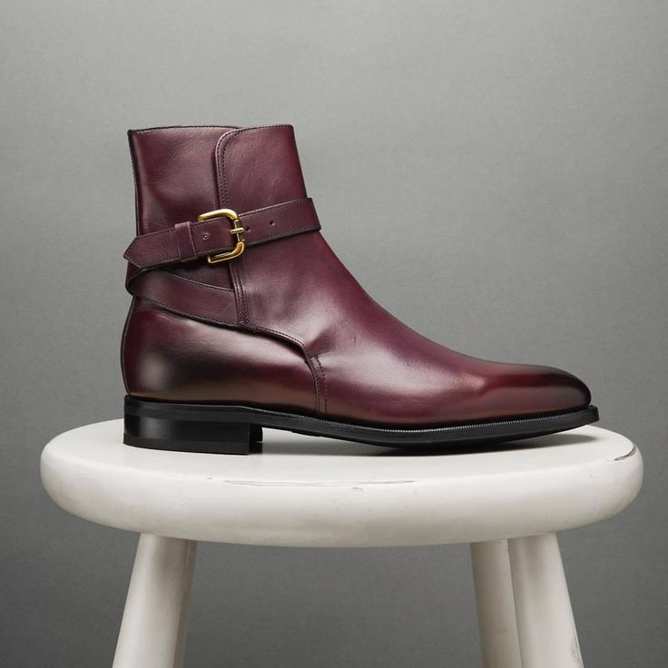 Handmade Men Maroon Jodhpurs boot, Men ankle leather boots, Mens leather boots - Boots