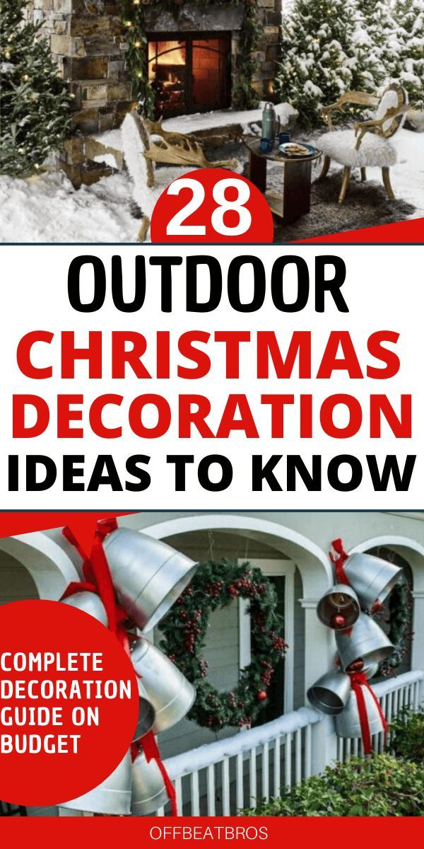 28 Amazing Christmas Outdoor Decorations Easy Outdoor Christmas Decorations Christmas Decorations Diy Outdoor Outdoor Christmas Decorations