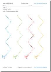 Ejercicios imprimibles cortar líneas en zigzag