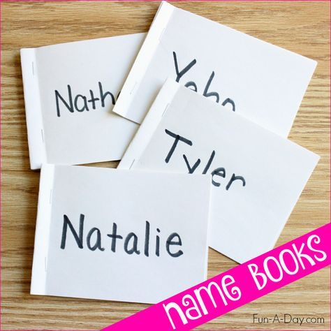 Name Books for Preschool and Kindergarten - a simple and engaging way to teach kids their names and letters