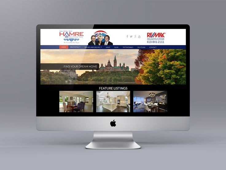 Website makeover for the Hamre Team in Ottawa. Now their Ubertor website is responsive, mobile friendly and easy to navigate home page featuring their videos.