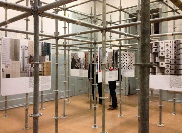 """Anticlimax: a report on the Metabolist Dream. Nakagin Capsule Tower, Tokyo 1972-2013"", Palácio Sinel de Cordes, Lisbon, Portugal. Photo Filipe Magalhaes"