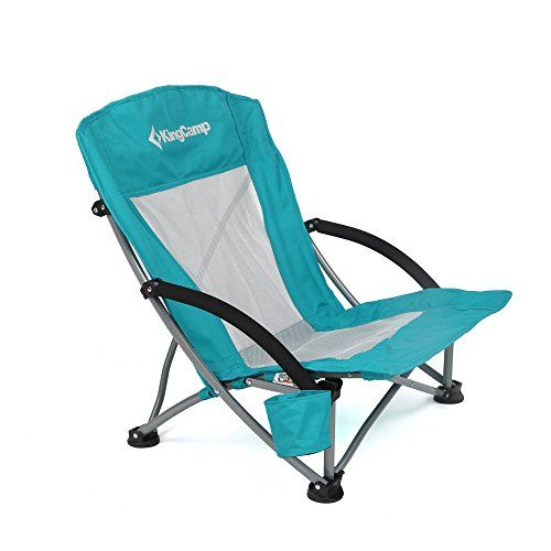 Introducing KingCamp Low Sling Beach Camping Folding Chair with Mesh Back Great product and follow - packable chair