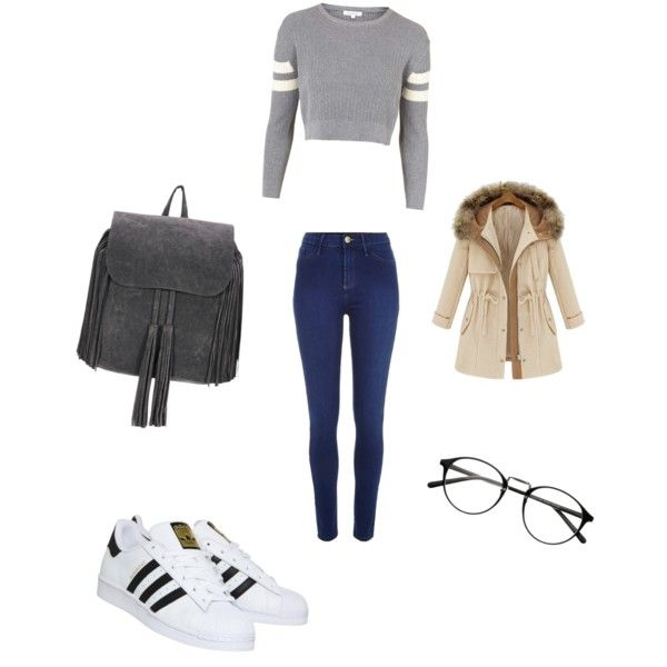 A fashion look from November 2015 by ipekimir featuring Topshop, River Island ve adidas