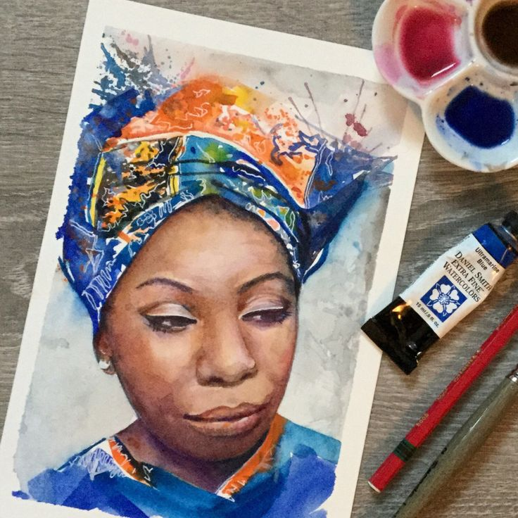 daily painting: Nina Simone.  https://www.etsy.com/ca/listing/492298528/print-of-my-original-watercolour