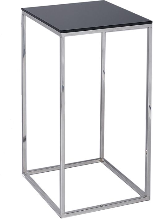 Kensal Square Lamp Stand Black Glass Top with Matt Black Base | Side tables