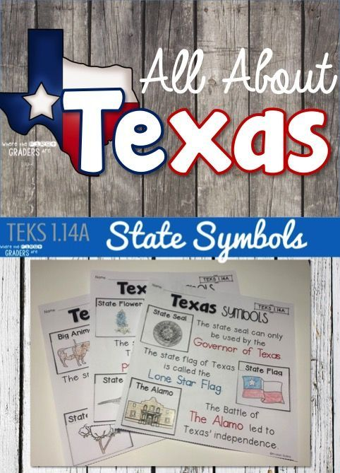 Teach young learners everything they need to know about the great state of Texas including state symbols: state seal, Lone Star Flag, The Alamo, the bluebonnet, the pecan tree, the mockingbird, the longhorn, the armadillo and cotton! Be sure to grab the Texas Pledge FREEBIE in this great blog post!