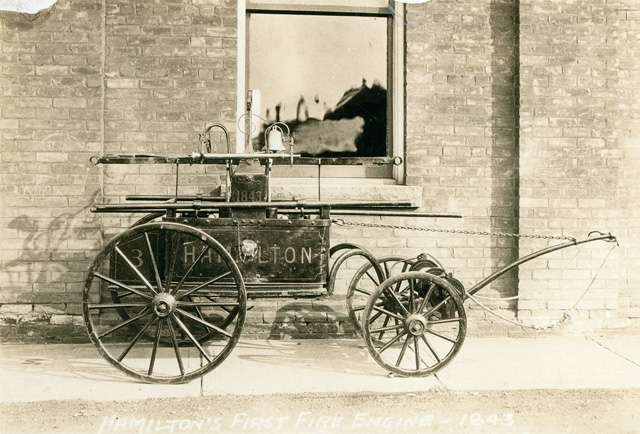 Hamilton's first fire engine purchased in 1835.