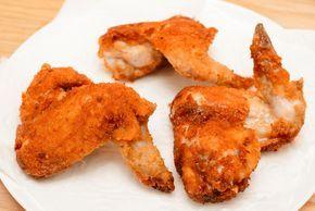 Alitas de pollo fritas picantes