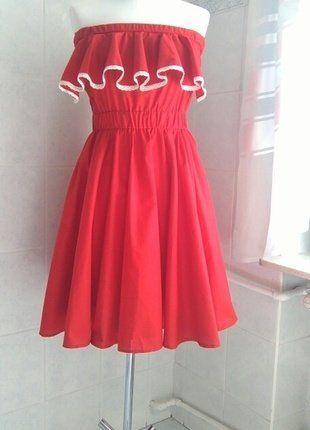Kup mój przedmiot na #vintedpl http://www.vinted.pl/damska-odziez/krotkie-sukienki/18668095-czerwona-sukienka-hiszpanka