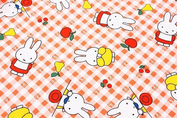 Miffy personnage tissu fabriqué au Japon / FQ par SewingdoingShop