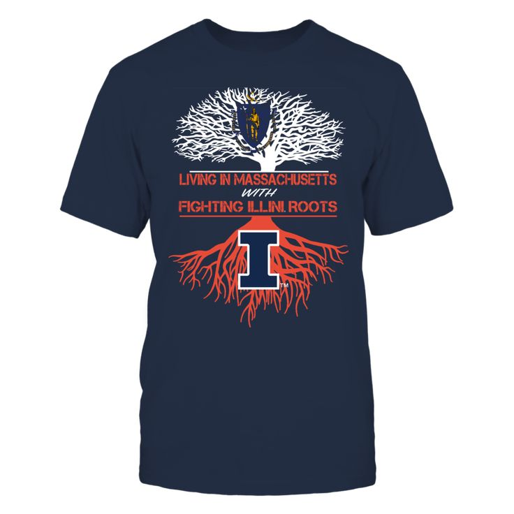Illinois Fighting Illini - Living Roots Massachusetts Front picture Illinois Fighting Illini fan. This t-shirt is a wonderful gift for you, your father, brother, sister, mother, grandfather, grandmother, aunt, uncle, fire boy, niece for parties, birthday, Father's Day, Thanksgiving, Christmas, New Year