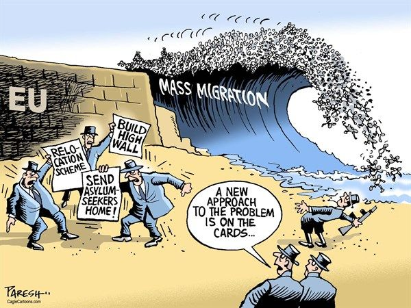 Image result for cartoons bill gates on mass migration