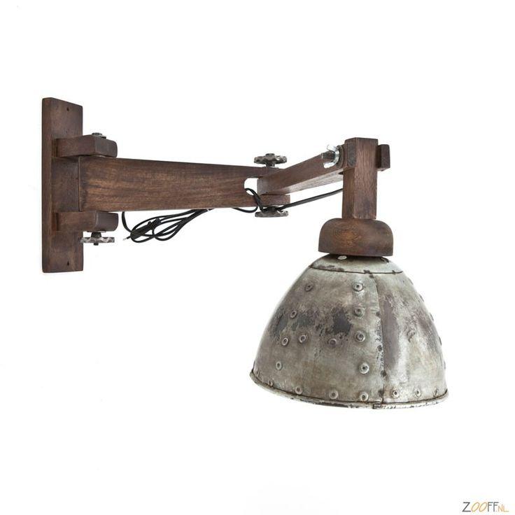 By-Boo Lumos Wandlamp Industriële leeslamp of nachtlamp