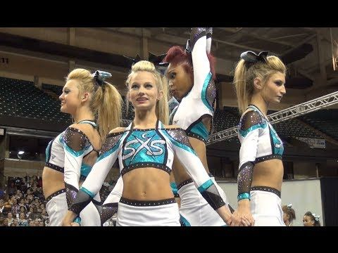 SSX Cheer Extreme Raleigh Showcase SHARK BITE  note from rylan; Watch emma she stumbles on a turn over but sticked a landing with a 2x flip!!!