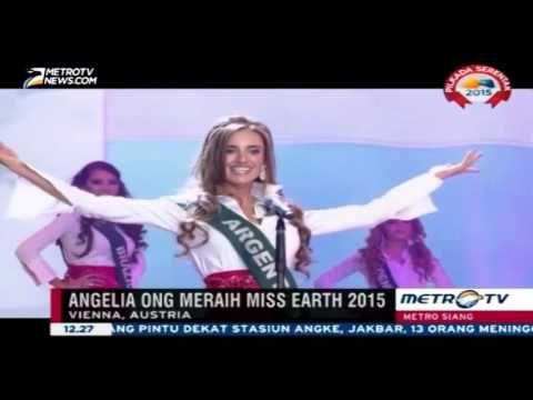 Angelina Ong Miss Fillipina raih gelar Miss Earth 2015