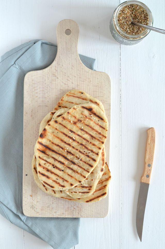 platbrood maken #flatbread #diy #2ingredients
