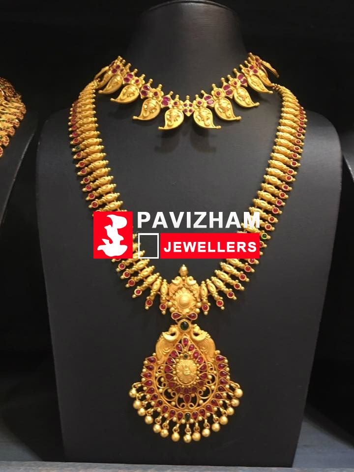 Latest Long Necklace Haram Haar Designs In Gold Antique Diamond Imitation Jewellery And One Gram