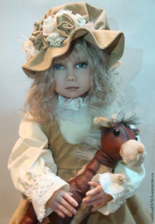 Купить Вера - бежевый, большая кукла, авторская работа, ручная авторская работа